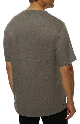 Мужская хлопковая футболка  RALPH LAUREN серого цвета, арт. 790702874 | Фото 4