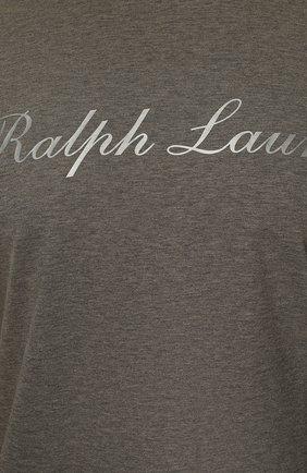 Мужская хлопковая футболка  RALPH LAUREN серого цвета, арт. 790702874 | Фото 5