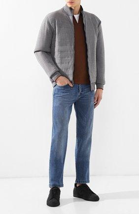 Мужские джинсы прямого кроя KITON голубого цвета, арт. UPNJS1/J07R52 | Фото 2