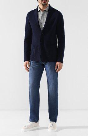 Мужские джинсы прямого кроя KITON голубого цвета, арт. UFPP79/J07R56 | Фото 2