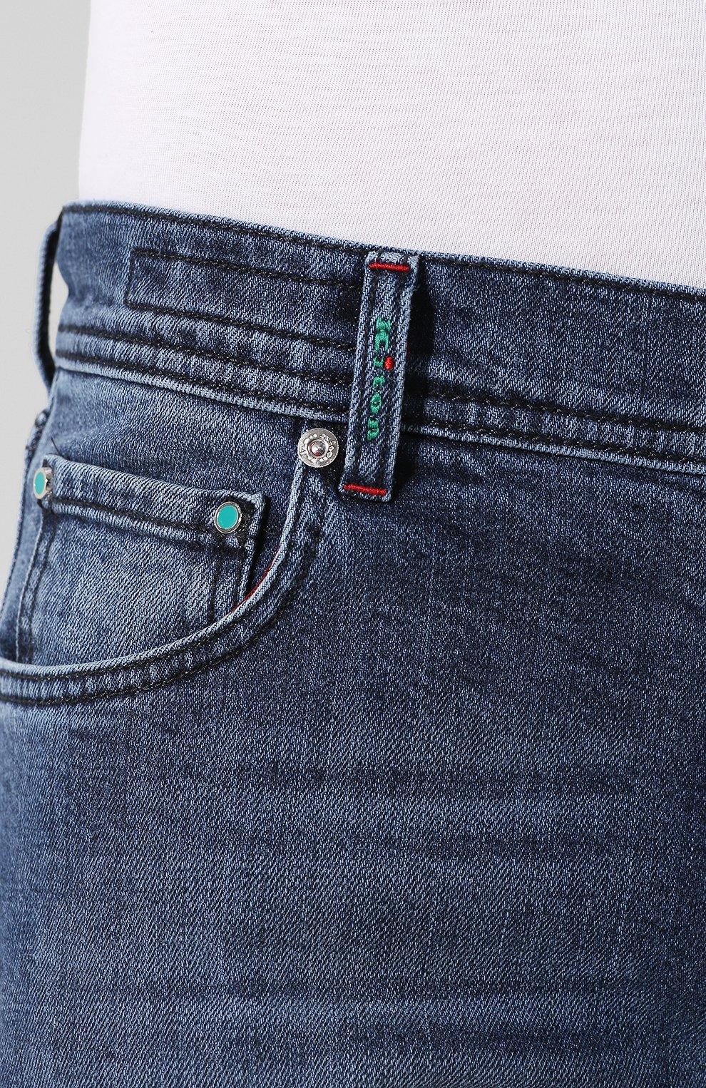 Мужские джинсы прямого кроя KITON синего цвета, арт. UPNJS/J07R52 | Фото 5