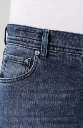 Джинсы прямого кроя Kiton синие | Фото №5