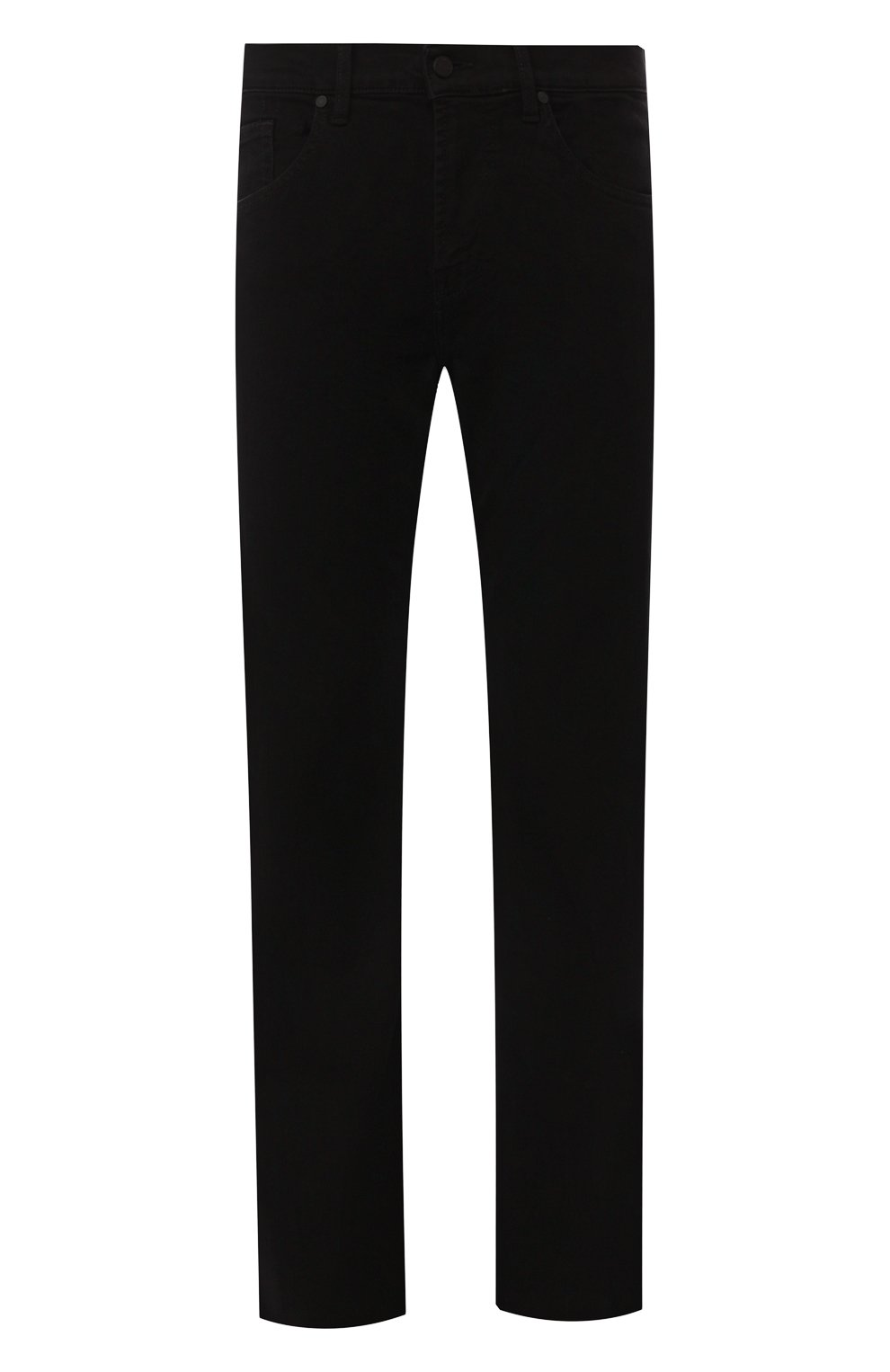 Мужские джинсы 7 FOR ALL MANKIND черного цвета, арт. JSMNA220BC   Фото 1 (Силуэт М (брюки): Прямые; Длина (брюки, джинсы): Стандартные; Материал внешний: Хлопок)