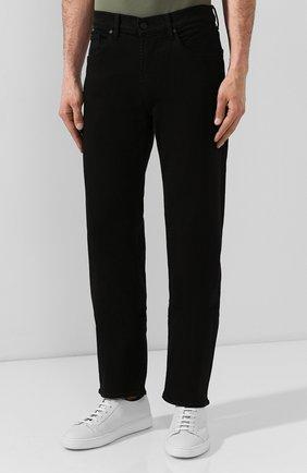 Мужские джинсы 7 FOR ALL MANKIND черного цвета, арт. JSMNA220BC   Фото 3 (Силуэт М (брюки): Прямые; Длина (брюки, джинсы): Стандартные; Материал внешний: Хлопок)