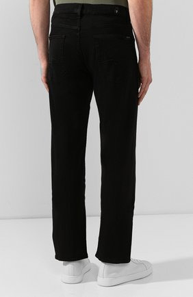 Мужские джинсы 7 FOR ALL MANKIND черного цвета, арт. JSMNA220BC   Фото 4 (Силуэт М (брюки): Прямые; Длина (брюки, джинсы): Стандартные; Материал внешний: Хлопок)