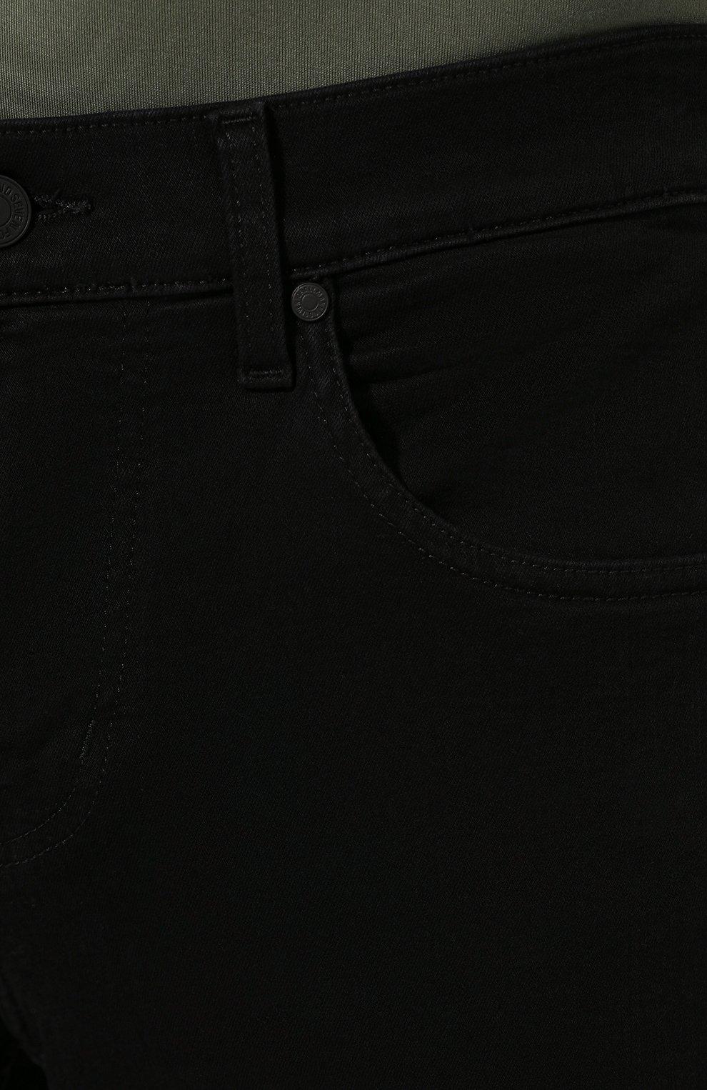 Мужские джинсы 7 FOR ALL MANKIND черного цвета, арт. JSMNA220BC   Фото 5 (Силуэт М (брюки): Прямые; Длина (брюки, джинсы): Стандартные; Материал внешний: Хлопок)