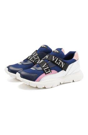 Комбинированные кроссовки Valentino Garavani Heroes Her | Фото №1