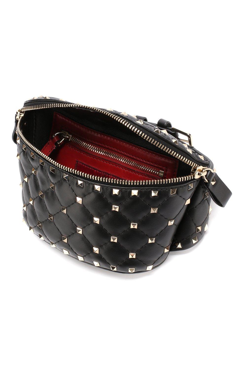 3e180f858474 Поясная сумка Valentino Garavani Rockstud Spike Valentino черная | Фото №4
