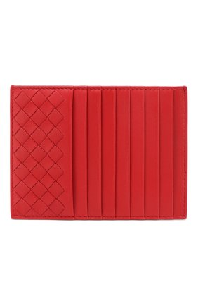Женский кожаный футляр для кредитных карт BOTTEGA VENETA красного цвета, арт. 162156/V001N | Фото 1