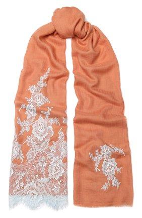 Женская шаль из смеси шелка и шерсти VINTAGE SHADES коричневого цвета, арт. 13485 | Фото 1