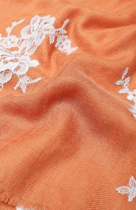 Женская шаль из смеси шелка и шерсти VINTAGE SHADES коричневого цвета, арт. 13485 | Фото 2