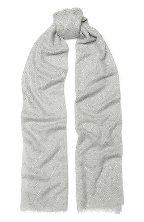 Женская кашемировая шаль VINTAGE SHADES светло-серого цвета, арт. 13418 | Фото 1
