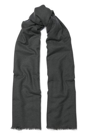 Женская кашемировая шаль VINTAGE SHADES темно-серого цвета, арт. 13267A | Фото 1