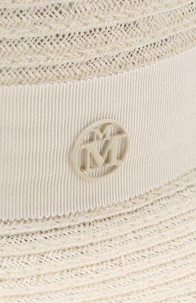 Соломенная шляпа Kiki Maison Michel белого цвета   Фото №3