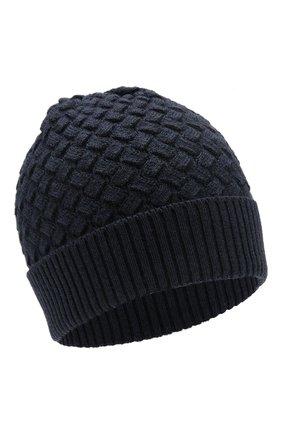 Женская шерстяная шапка BOTTEGA VENETA темно-синего цвета, арт. 500396/4V206 | Фото 1