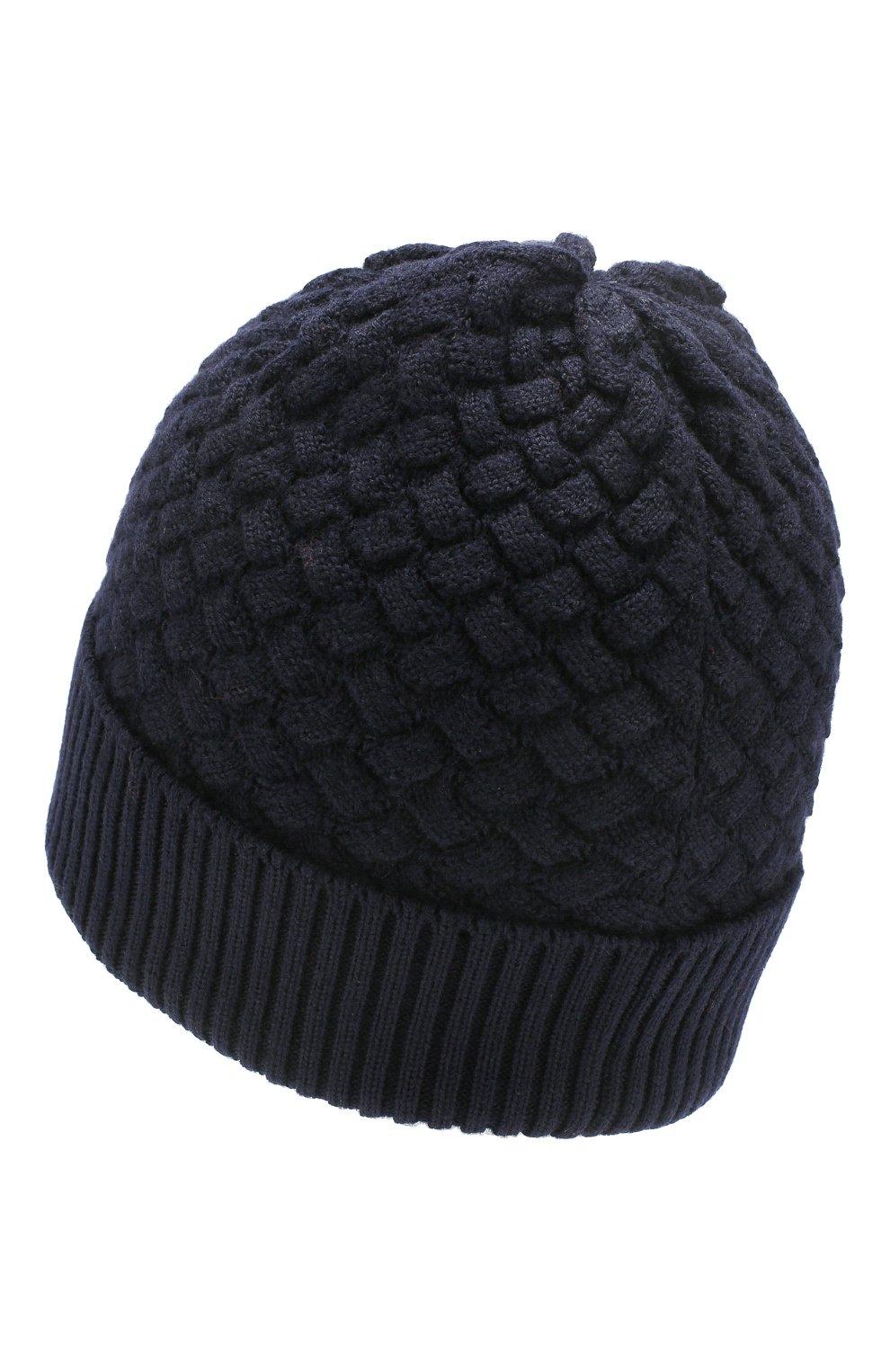 Женская шерстяная шапка BOTTEGA VENETA темно-синего цвета, арт. 500396/4V206 | Фото 2