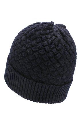 Женский шерстяная шапка BOTTEGA VENETA темно-синего цвета, арт. 500396/4V206 | Фото 2