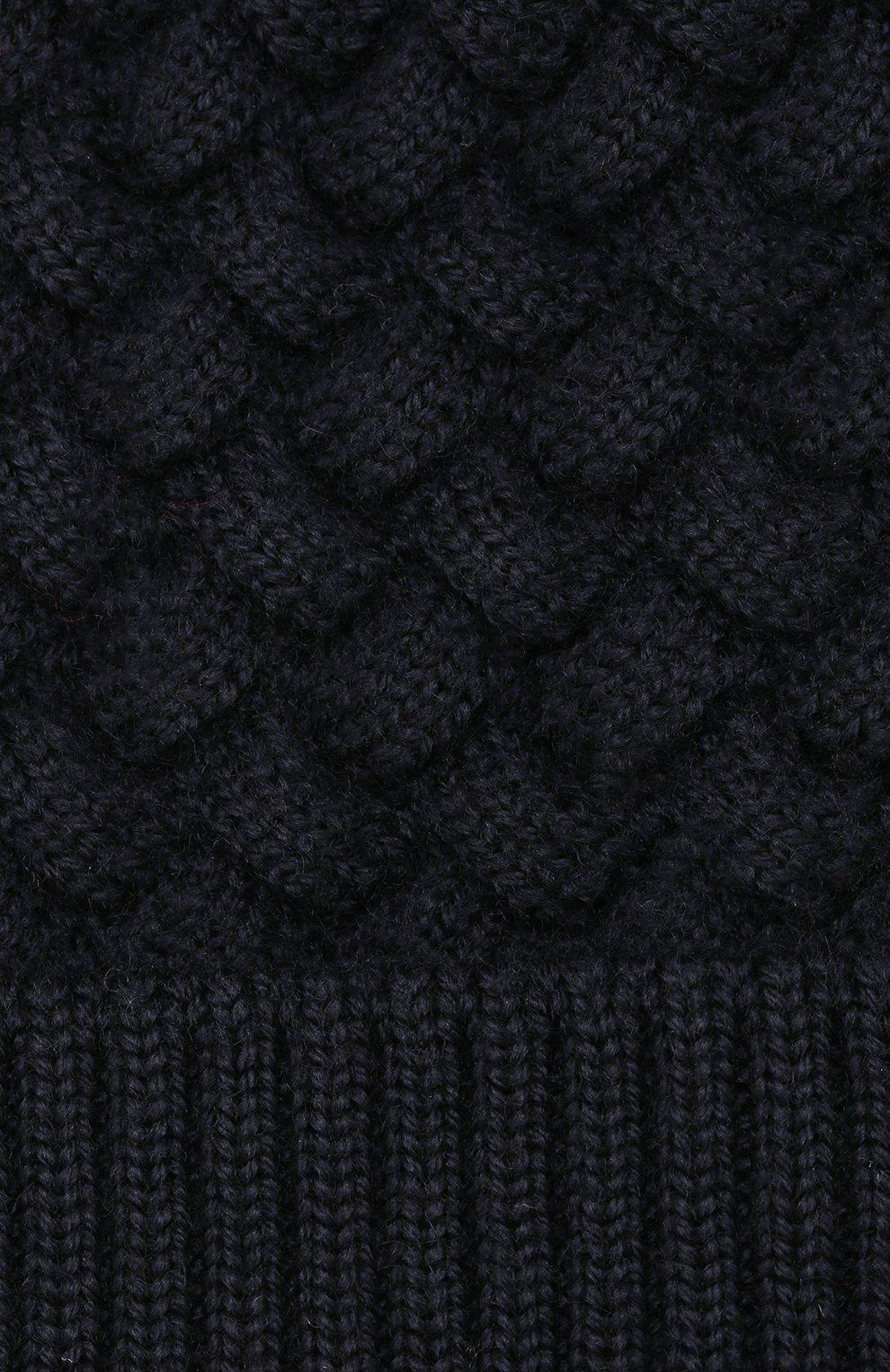 Женская шерстяная шапка BOTTEGA VENETA темно-синего цвета, арт. 500396/4V206 | Фото 3