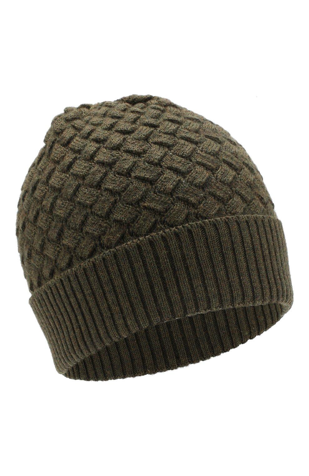 Женская шерстяная шапка BOTTEGA VENETA зеленого цвета, арт. 500396/4V206 | Фото 1