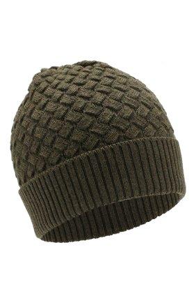 Женский шерстяная шапка BOTTEGA VENETA зеленого цвета, арт. 500396/4V206 | Фото 1