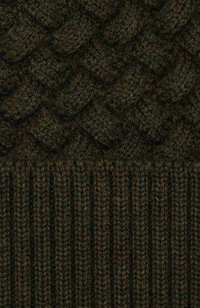 Женская шерстяная шапка BOTTEGA VENETA зеленого цвета, арт. 500396/4V206 | Фото 3