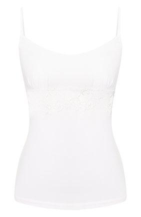 Женская хлопковый топ LA PERLA белого цвета, арт. 0021084 | Фото 1