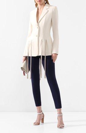 Женские шерстяные брюки RALPH LAUREN синего цвета, арт. 290618874 | Фото 2