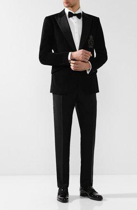 Мужской шерстяные брюки BOTTEGA VENETA черного цвета, арт. 545788/V0KK1 | Фото 2