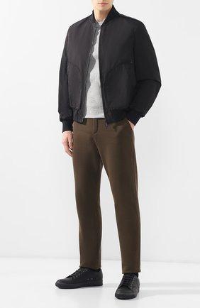 Мужской брюки из смеси хлопка и шерсти BOTTEGA VENETA темно-зеленого цвета, арт. 470798/VZZY5   Фото 2