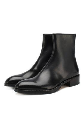 Мужские кожаные сапоги BERLUTI черного цвета, арт. S4628-001 | Фото 1