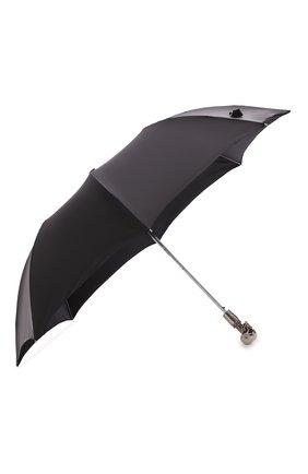 Мужской складной зонт ALEXANDER MCQUEEN черного цвета, арт. 557720/4A37Q | Фото 2