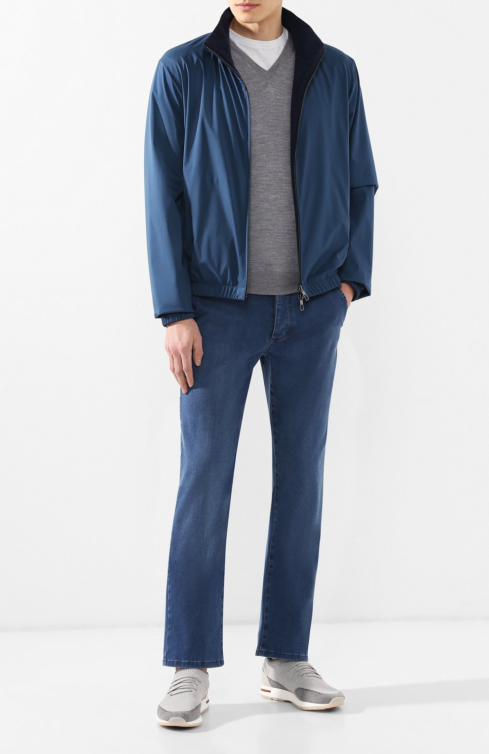 Мужские джинсы прямого кроя ZILLI синего цвета, арт. MCR-00041-DESA1/R001 | Фото 2