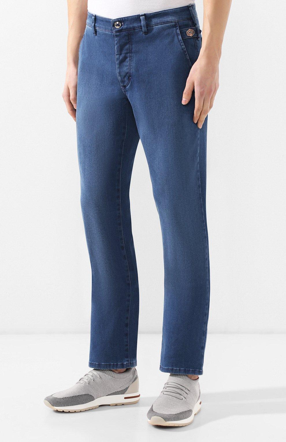 Мужские джинсы прямого кроя ZILLI синего цвета, арт. MCR-00041-DESA1/R001 | Фото 3