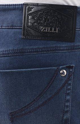 Мужские джинсы прямого кроя ZILLI синего цвета, арт. MCR-00041-DESA1/R001 | Фото 5