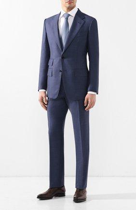 Мужской шерстяной костюм TOM FORD синего цвета, арт. 322R05/21AA43 | Фото 1