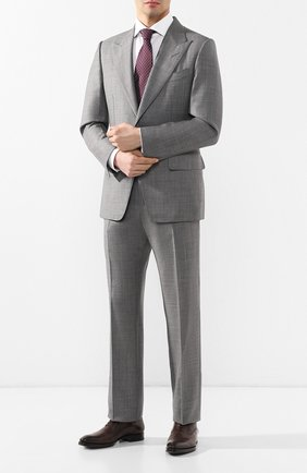 Мужской шерстяной костюм TOM FORD серого цвета, арт. 522R03/21AL43   Фото 1
