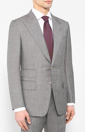 Мужской шерстяной костюм TOM FORD серого цвета, арт. 522R03/21AL43 | Фото 2