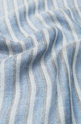 Мужской шарф из смеси кашемира и шелка LORO PIANA синего цвета, арт. FAI5181 | Фото 2