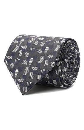Мужской шелковый галстук BRIONI темно-серого цвета, арт. 061D00/P840A | Фото 1