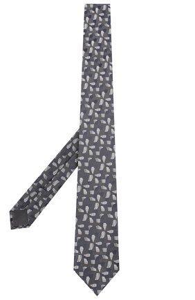 Мужской шелковый галстук BRIONI темно-серого цвета, арт. 061D00/P840A | Фото 2