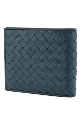 Мужской кожаное портмоне BOTTEGA VENETA синего цвета, арт. 549041/V465Z | Фото 2
