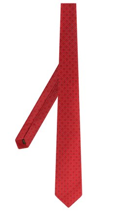 Мужской шелковый галстук ZILLI красного цвета, арт. 50106/TIE   Фото 2 (Материал: Шелк, Текстиль; Статус проверки: Проверено; Принт: С принтом)