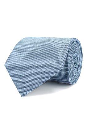 Мужской шелковый галстук BRIONI бирюзового цвета, арт. 062I00/P8438 | Фото 1