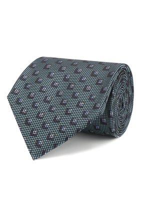 Мужской шелковый галстук BRIONI бирюзового цвета, арт. 062H00/P8472 | Фото 1