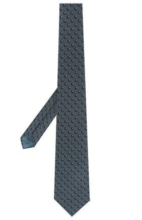 Мужской шелковый галстук BRIONI бирюзового цвета, арт. 062H00/P8472 | Фото 2