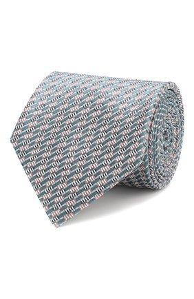 Мужской шелковый галстук BRIONI зеленого цвета, арт. 062H00/P8455 | Фото 1
