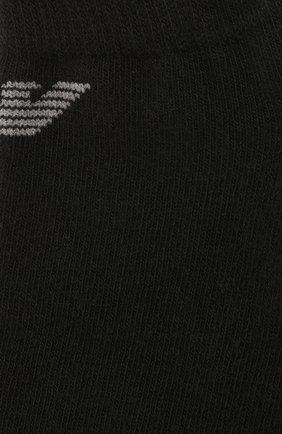 Мужские комплект из трех хлопковых носков EMPORIO ARMANI черного цвета, арт. 300008/CC134   Фото 2