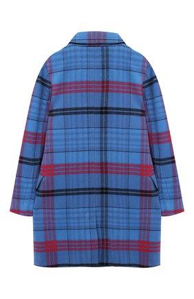 Детское двубортное пальто из шерсти BURBERRY синего цвета, арт. 8003230 | Фото 2
