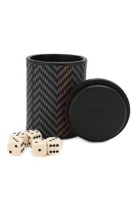 Мужского настольная игра кости ERMENEGILDO ZEGNA темно-серого цвета, арт. E1428P-PSL | Фото 1