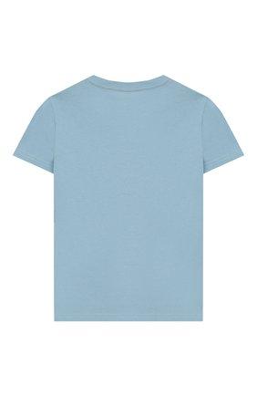 Детская хлопковая футболка POLO RALPH LAUREN голубого цвета, арт. 323712330 | Фото 2